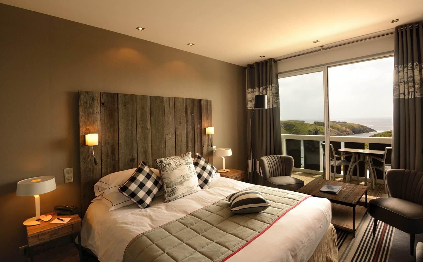 Hotel Castel clara - chambre vue mer 2 - belle ile en mer - morbihan bretagne sud ©