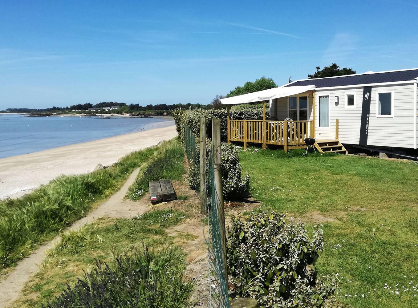 Camping Les Goélands - Mobil home 3 chambres face à la mer - ©