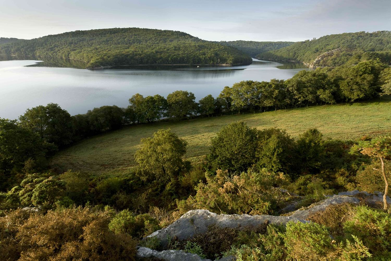 Vue du lac de Guerlédan © OT Pontivy Communauté - CRTB