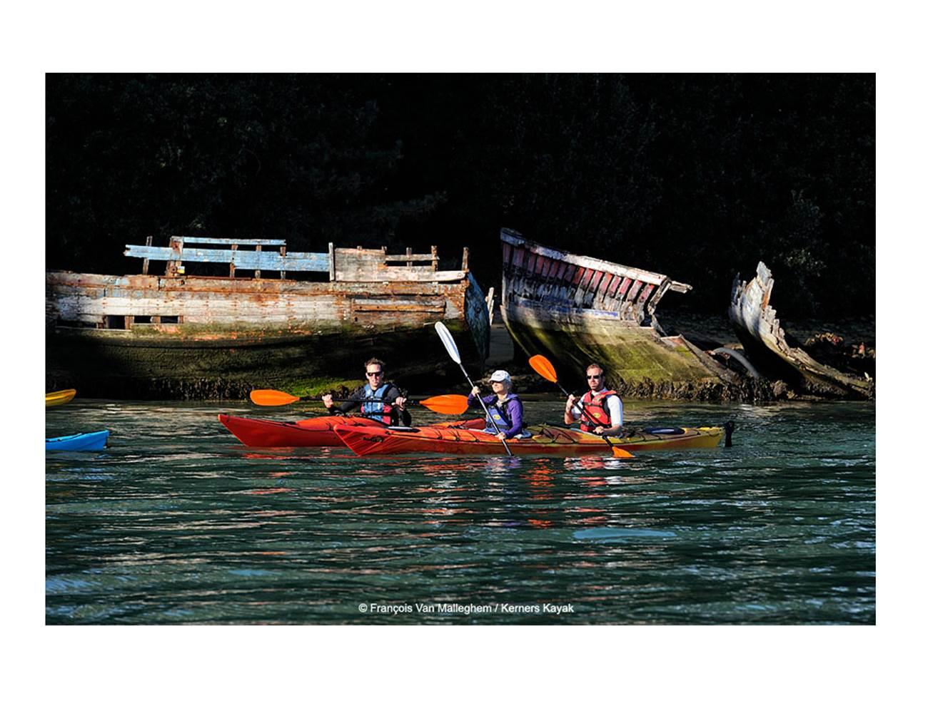 Kerners-Kayak-Arzon-Presqu'île-de-Rhuys-Golfe-du-Morbihan-Bretagne sud © François Van Malleghem