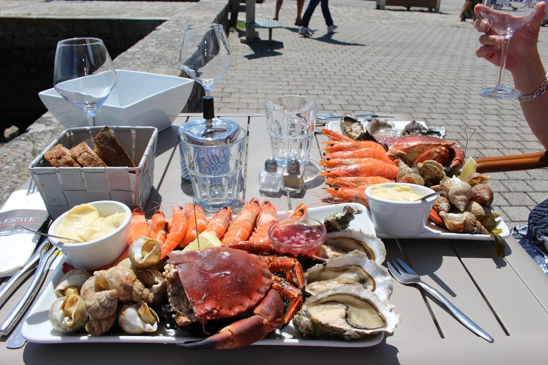 Une petite dégustation de fruits de mer avec vue sur le Golf