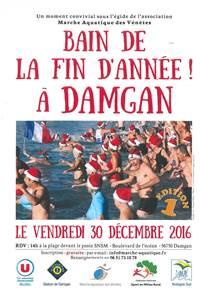 Bain de la fin d'année à Damgan !