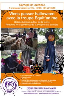 Viens fêter Halloween avec Equit'anime