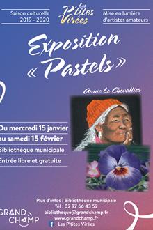 Exposition de tableaux au pastel sec
