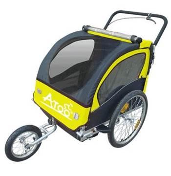 Remorque enfants ATOO avec frein, poids maximal en charge 37 kg -poids à vide 17,8 kg
