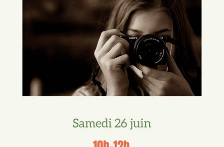 Atelier photo débutant à 10h